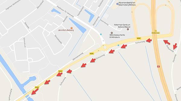Ontbrekende wandelroute naast de Cultuurweg te Middenmeer